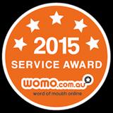 2015 Service Award - womo.com.au